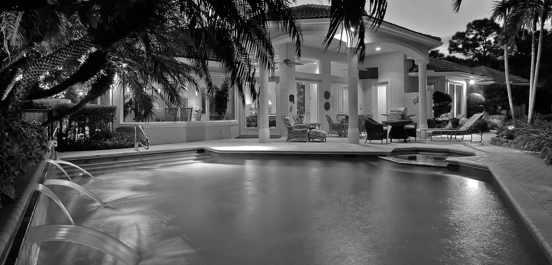 swimming pool grayscale